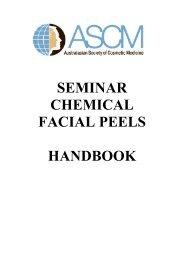 SEMINAR CHEMICAL FACIAL PEELS HANDBOOK