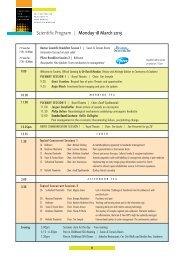 Scientific Program   Monday 18 March 2013