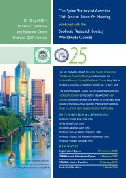 The Spine Society of Australia 25th Annual ... - DC Conferences