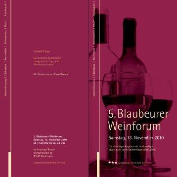 5.Blaubeurer Weinforum - Weinforum Blaubeuren