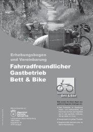 Fahrradfreundlicher Gastbetrieb Bett & Bike - DEHOGA Tourismus ...