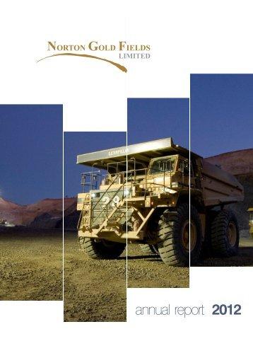 27 September 2012 - Norton Gold Fields