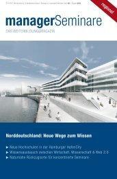 Norddeutschland: Neue Wege zum Wissen - ManagerSeminare