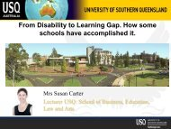 From Disability to Learning Gap How some schools have accomplished it