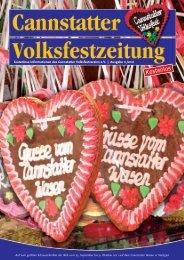 Cannstatter Volksfestzeitung 2011 - Cannstatter Volksfestverein