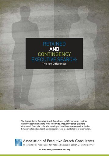 RETAINED AND CONTINGENCY EXECUTIVE SEARCH
