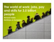 The world at work jobs pay and skills for 3.5 billion people