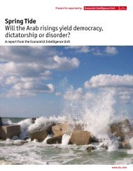 Spring Tide Will the Arab risings yield democracy, dictatorship or ...