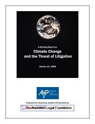 Climate Change and the Threat of Litigation