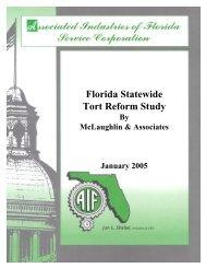 Florida Statewide Tort Reform Study