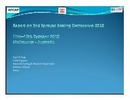 2nd sprayed sealing conference 2010 (11th -12th October ... - AFCAP