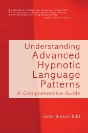 Advanced Hypnotic Language Patterns