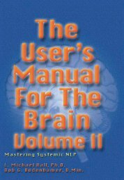The User's Manual for the Brain Volume II