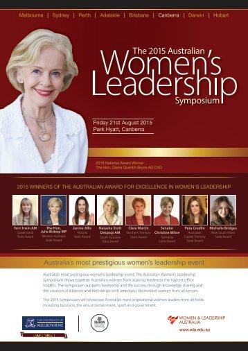 Australia's most prestigious women's leadership event