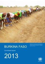 Burkina Faso CAP 2013