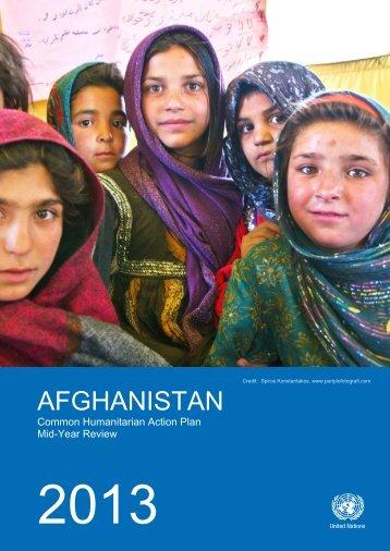 2013 CHAP Afghanistan