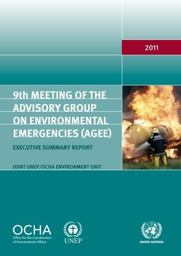 9th meeting of the advisory Group on environmental Emergencies (AGEE)