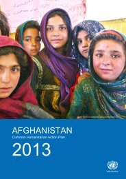 Common Humanitarian Action Plan for Afghanistan 2013