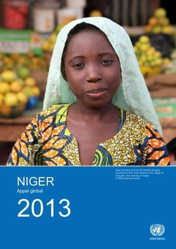 Appel global pour le Niger 2013