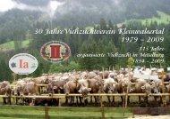 Programm 30 Jahre Viehzuchtverein Kleinwalsertal Samstag, 3 ...