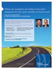 What can suppliers do today to be best prepared for the auto ...