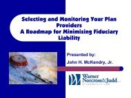 Selecting and Monitoring Your Plan Providers A Roadmap for ...