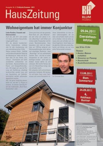 Wohneigentum hat immer Konjunktur - Ch. Blum Holzbau GmbH