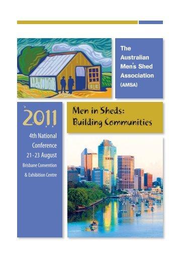 2011 Men in Sheds: Building Communities - DC Conferences