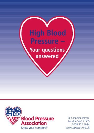 High Blood Pressure –