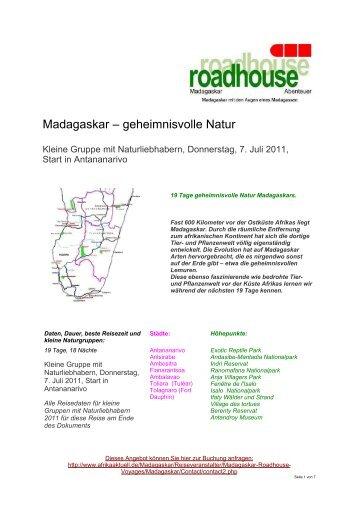 am 7. Juli - Madagaskar Reisen