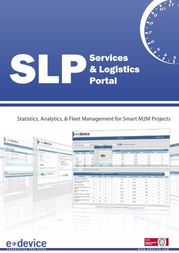 Statistics Analytics & Fleet Management for Smart M2M Projects