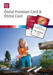 Ötztal Premium Card & Ötztal Card