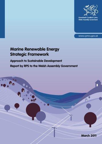 Marine Renewable Energy Strategic Framework