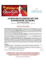 26.12. bis 29.12.2012 - Hotel Miramar