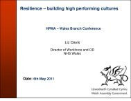Resilience – building high performing cultures