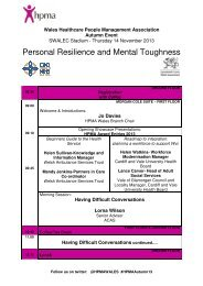 Personal Resilience and Mental Toughness