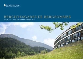 berchtesgadener bergsommer - InterContinental Berchtesgaden ...