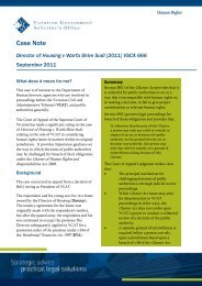 VGSO Case Note.pdf - Victorian Government Solicitor's Office
