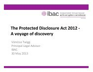 The Protected Disclosure Act 2012 - A voyage of discovery