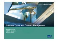 Contract Types and Contract Management