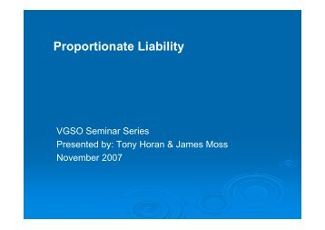 Proportionate Liability
