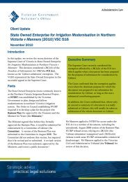 Admin Law Newsletter.pdf - Victorian Government Solicitor's Office