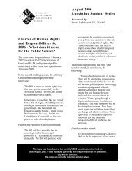 Charter of Human Rights and Responsibilities Act 2006 - Victorian ...