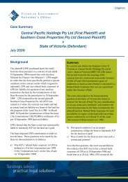 Central Pacific Holdings Pty Ltd (First Plaintiff) - Victorian ...
