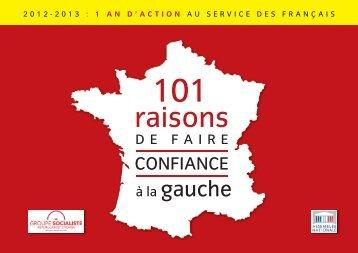 101 raisons de faire confiance a la gauche - Martine Lignières-Cassou