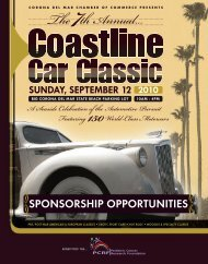 Sponsorship 2010 - the Corona del Mar Chamber of Commerce