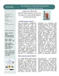 Floriculture & Nursery News & Notes