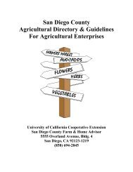 San Diego County Agricultural Directory & Guidelines For ...