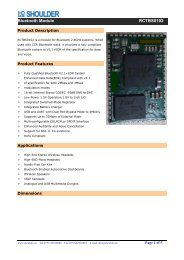 Bluetooth Module RCTBS0102
