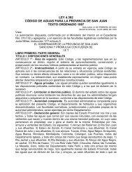 LEY 4.392 CÓDIGO DE AGUAS PARA LA PROVINCIA DE SAN JUAN TEXTO ORDENADO 1997